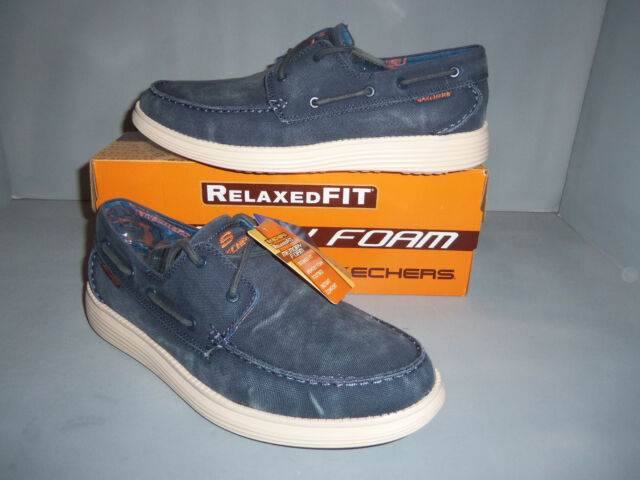 Skechers Relaxed Fit Status Melec hommes's Boat chaussures