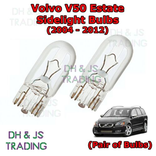 Parking Lights Pair Side Light Bulbs 04-12 Volvo V50 Estate Front Sidelights