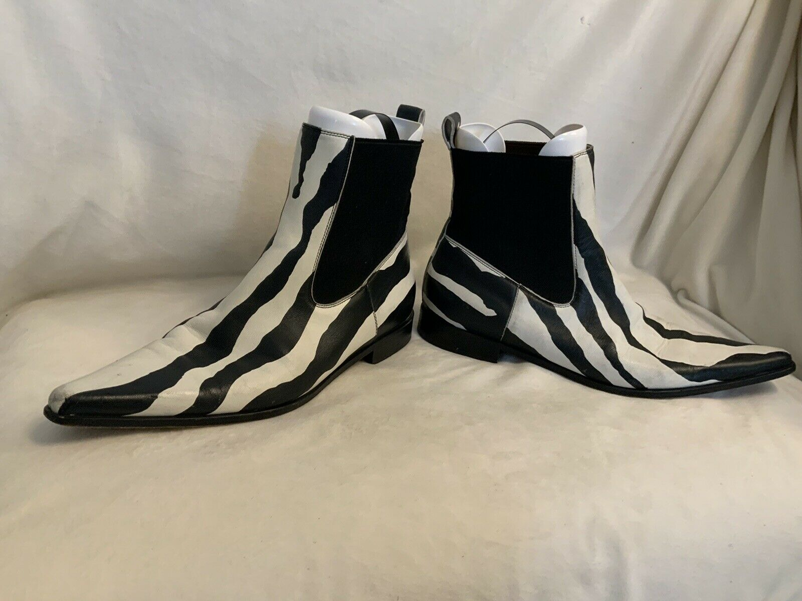 Dolce And Gabbana Ankle Boots Zebra Print Leather  - image 3
