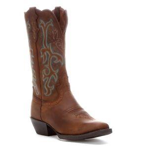 Justin Ladies Sorrel Apache Square Toe Western Boots L2552