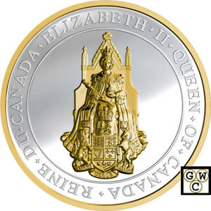 2017-039-The-Great-Seal-of-Canada-039-Gold-Plated-High-Relief-25-9999Silver-Coin-18233