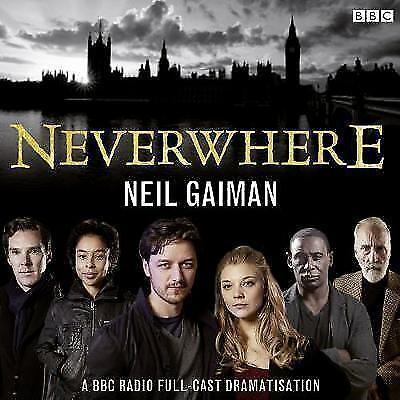1 of 1 - NEVERWHERE - Neil Gaiman CD Audiobook - 9781471316470 - 4 X CD VGC
