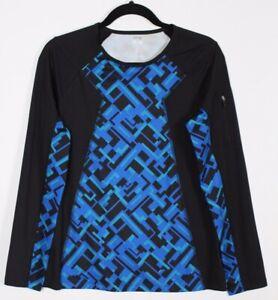 Anne-Klein-Sport-Women-039-s-Running-Shirt-Long-Sleeves-Workout-Top-Size-L