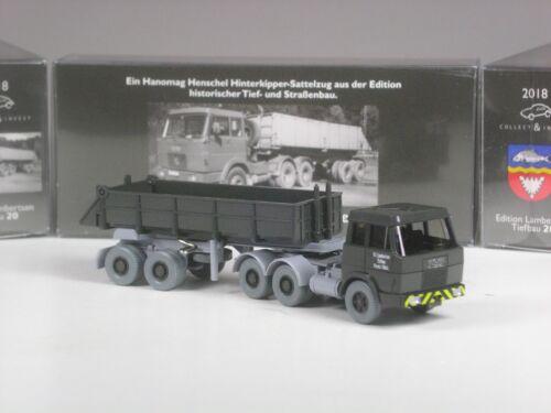 20 Wiking C/&I Sondermodell Hanomag Henschel Hinterkipper Lambertsen Nr