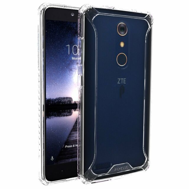 sports shoes 6cd28 402ba for ZTE ZMAX Pro Poetic Affinity Series Premium Thin Shockproof TPU Case  Clear