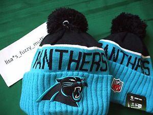 35fd35409db22a Carolina Panthers New Era knit pom hat beanie 2015 NFL On Field 100 ...