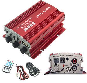 AMPLIFICATORE-AUDIO-BLUETOOTH-AUTO-12V-FM-USB-MP3-STEREO-TELECOMANDO-MA-700BT