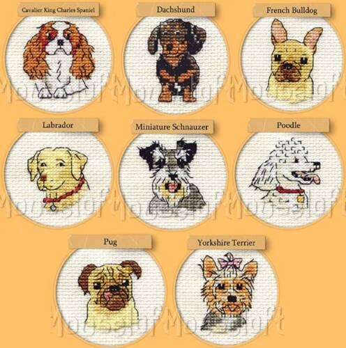 Poodle Schnauzer Dachshund Spaniel Labrador Dog Counted Cross Stitch Kit