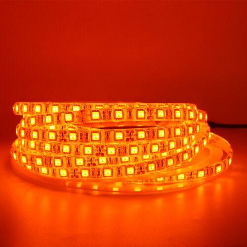 5m Orange LED Strip light 5050 3528 SMD Waterproof 12V DRL car marker light lot