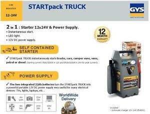 Details about GYS TRUCK CAR CAMPER + VANS MINIBUS 2 IN 1 BOOSTER + POWER SUPPLY AUTO CHARGER