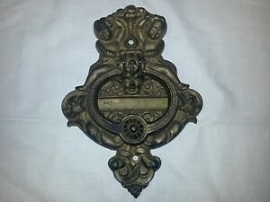 Image Is Loading Antique Victorian Cast Iron Door Knocker Ornate With