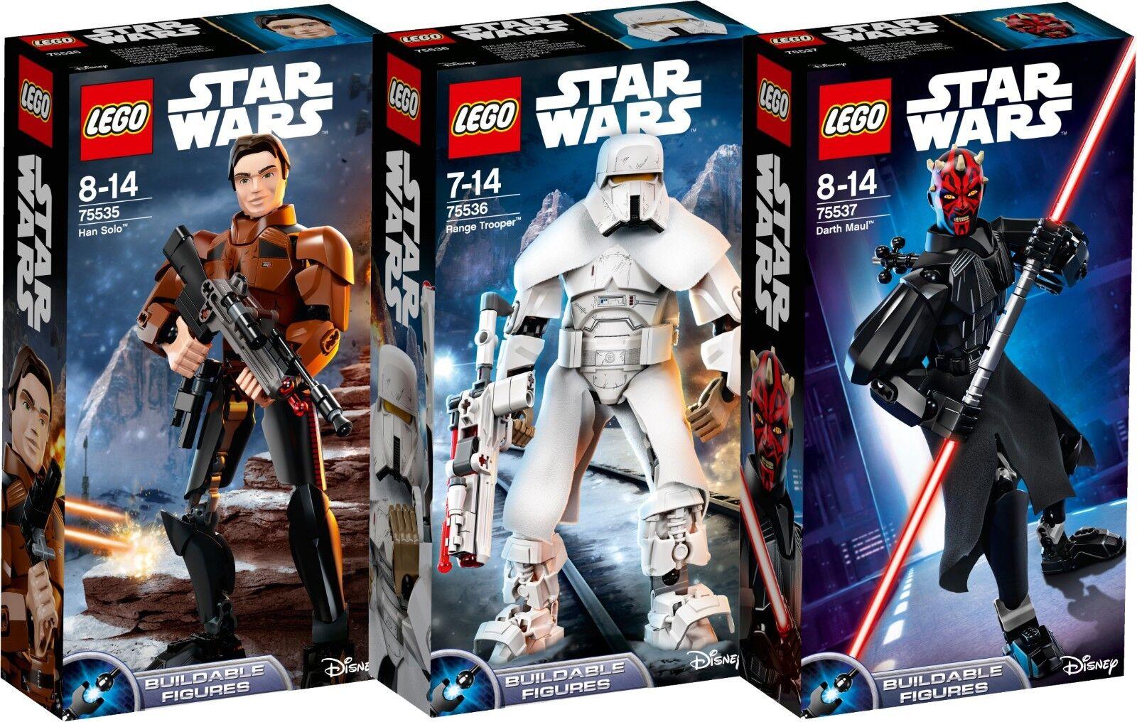 LEGO estrella guerras Han Solo 75535 75536 75537 range Trooper  Darth Maul n5 18  ci sono più marche di prodotti di alta qualità