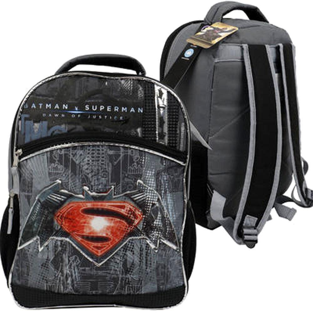 Sac à dos avec logo Batman Vs Superman de Warner Brothers, gris, noir, cartable, cartable