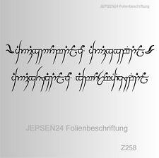 Z258 Farbauswahl Wandtattoo Herr der Ringe 120x41cm Ein Ring sie zu knechten .