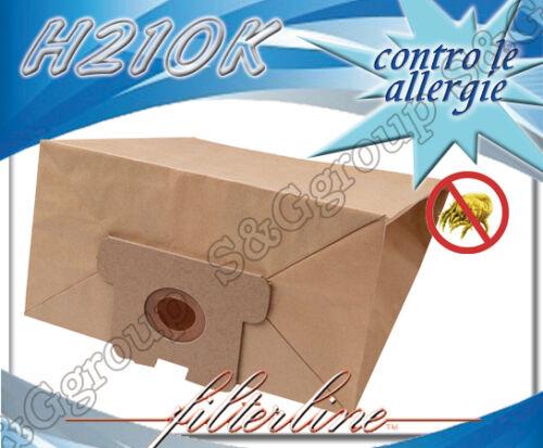 H210MF 5 sacchetti filtro in microfibra per aspirapolvere Hoover Compact S 3476S