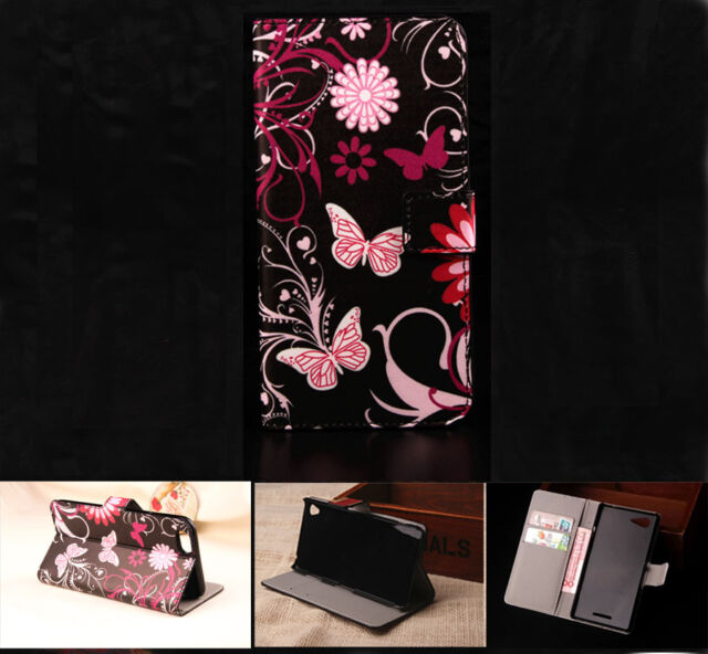 Buteryfly Leather Wallet Card Case Stand Cover For Samsung Nokia Sony Huawei G10