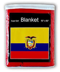 2bdb72ad7e ECUADORIAN FLAG FLEECE BLANKET  NEW  50