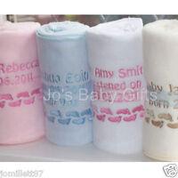 Personalised Soft Baby Blanket, Birth/Christening Gift
