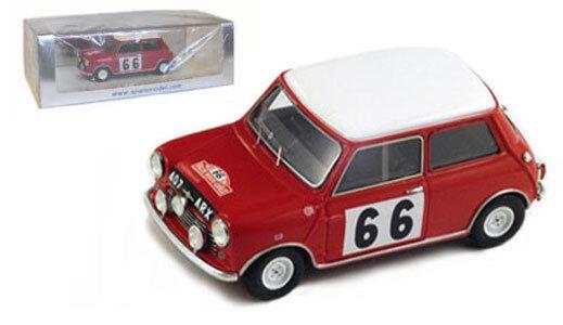 Spark s1188 Morris Mini Cooper 6º Rally de Monte Cochelo 1963-P Hopkirk 1 43 Escala