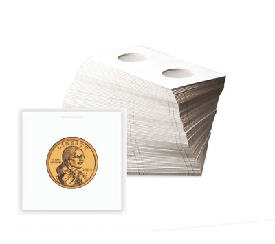 BCW Small Dollar Size Paper Flips 2x2 Coin Holders 26.5mm Archival Safe 25