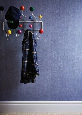 On Trend Denim Jeans Fabric Design Wallpaper in Blue / Pink / Cream / Duckegg