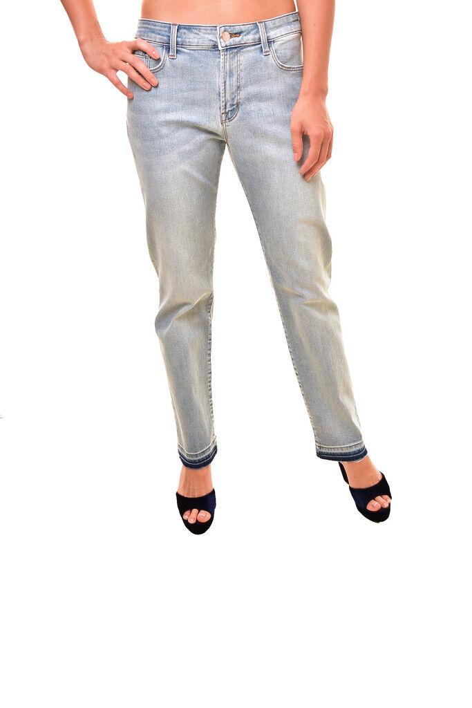 J BRAND Women's Amelia Mid Rise Straight Jeans Light bluee Size 31 RRP  317 BCF88