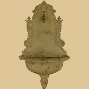 Eisen Standbrunnen Antik schwarz 79cm Wasserhahn