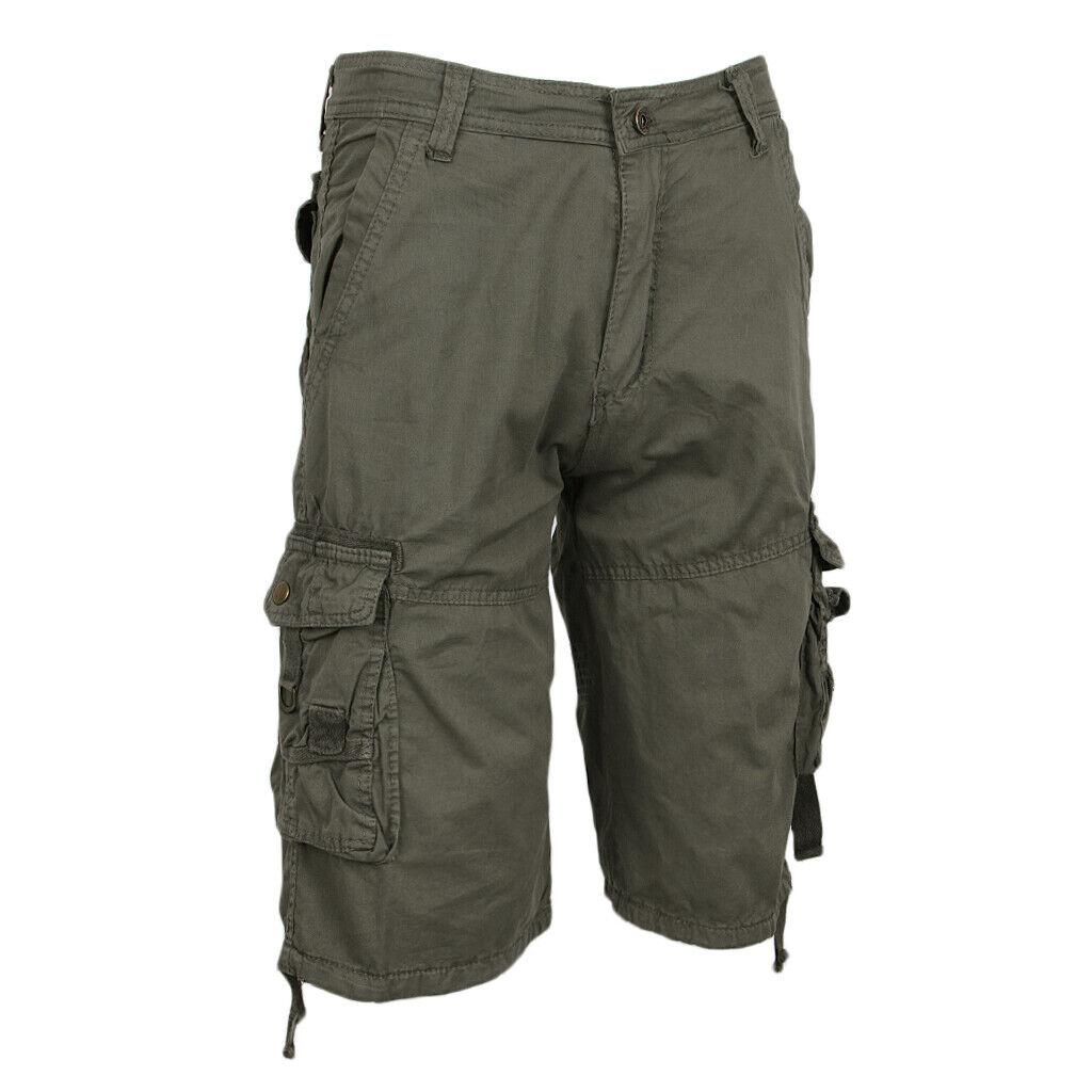 Beiläufige kurze Hosen der Männer Armee Baggy Hosen Overalls lose Tasche