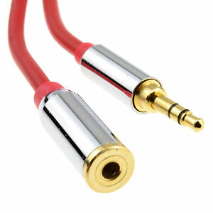 3m-PRO-METAL-RED-3-5mm-Stereo-Jack-Headphone-Extension-Cable-006920