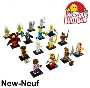Lego - Figurine Minifig Minifigurine serie 13 complete (x16 figurines) NEUF