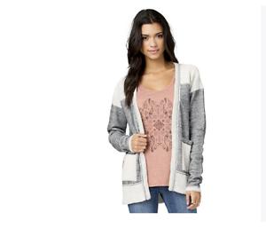 grigio Nwt M antracite Sweater 60 Cardigan 2016 Element Womens Sherry 8dnC1q1w