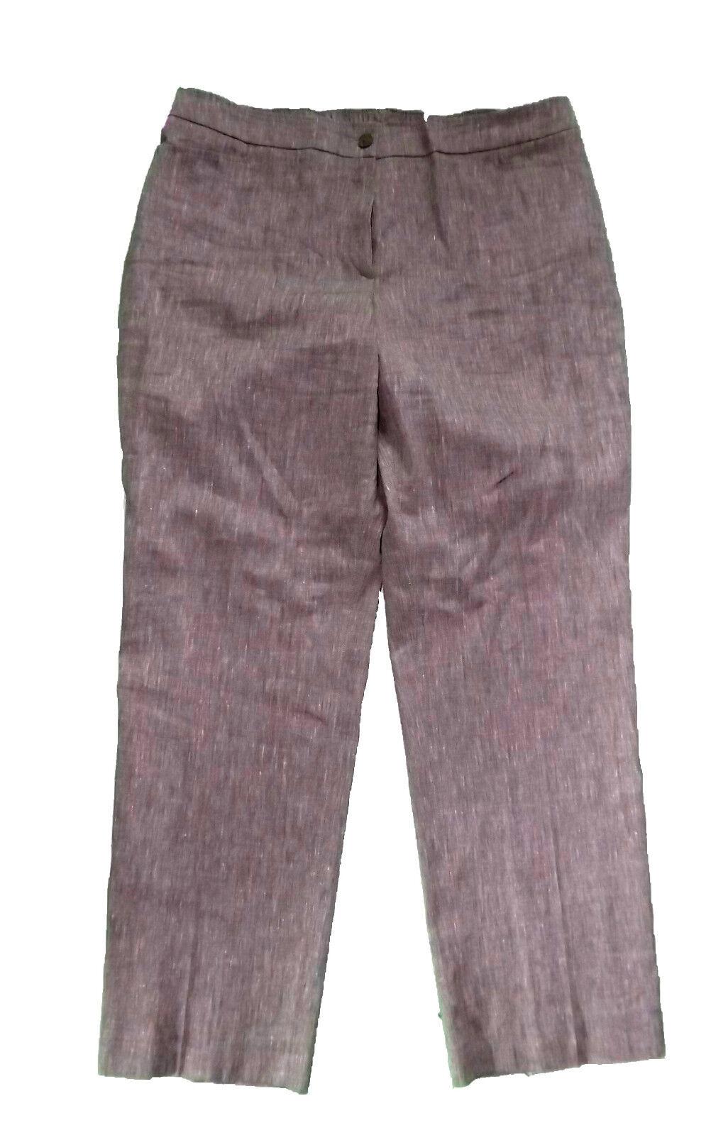 ulla popken  pantalon  Größe 46  élégant pantalon businesshose  braun coupe droite jambe