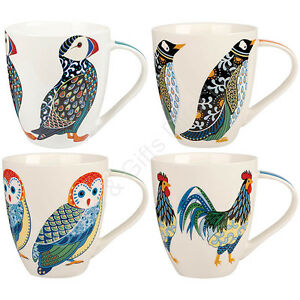 Image is loading Churchill-Paradise-China-Mug-Mugs-Puffin-Penguin-Owl-  sc 1 st  eBay & Churchill Paradise China Mug Mugs Puffin Penguin Owl Rooster Couture ...