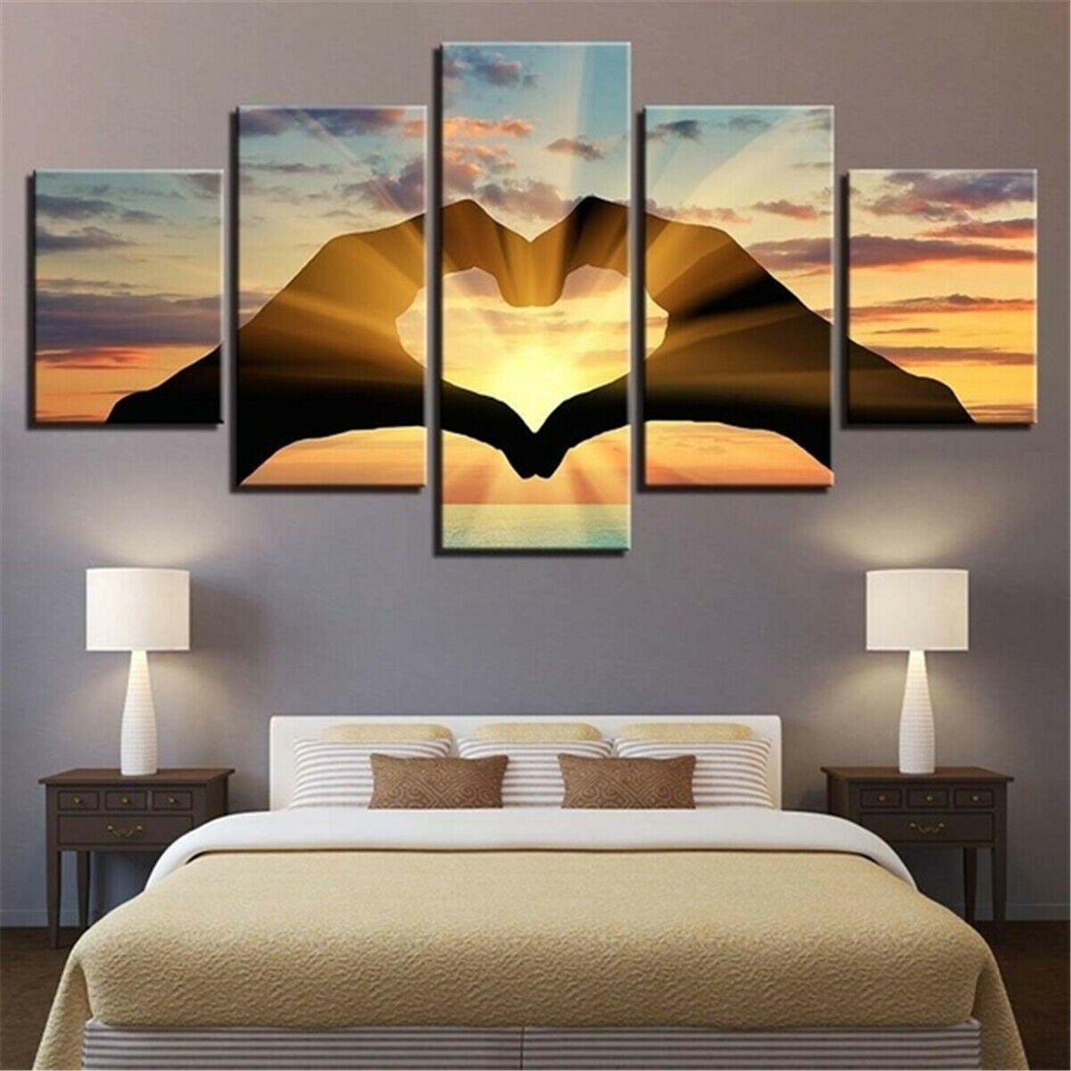 US Home Wall Art Picture Bedroom Decor Couple Love Group Print Painting Canvas 2