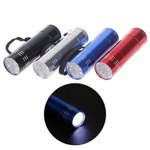 9-LED-Mini-Portable-Hand-Torch-Aluminium-Flash-Flashlight-Hiking-LampJCLJ