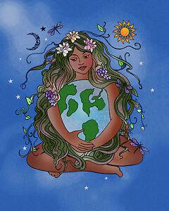 Earth Goddess Gaia Embrace Ind...