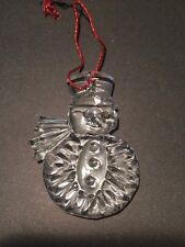 Gorham Lead Crystal SNOWMAN Ornament W/Box Made in West Germany Christmas