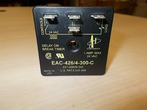 A-1 COMPONENTS EAC-426//4-300-C//031-00829-000 24VAC 4 POLE TIME DELAY RELAY
