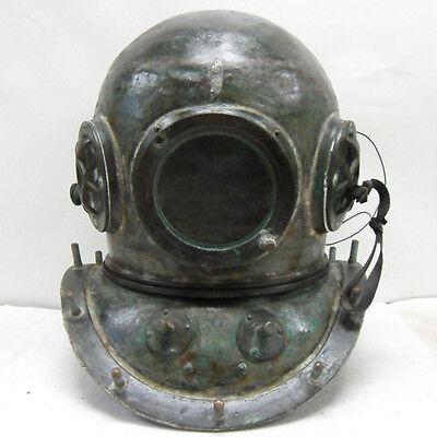 antique 12 bolt diver diving helmet