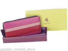 Visconti Women Wallet Purse Genuine Original Leather Clutch Clutches Verry Berry