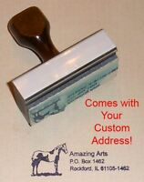 Horse Rubber Stamp With Your Custom Address