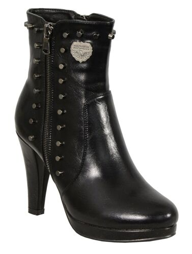 High Heel Milwaukee Performance Women/'s Spiked Boot W// Side Zipper  **MBL9440