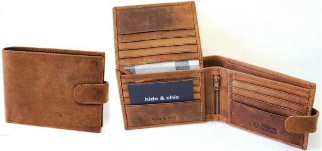 RFID Security Lined Vintage Wallet Full Grain Cow Hide Hunter Leather 12006