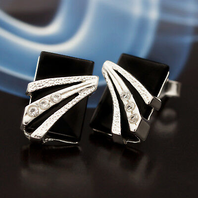 Con Gemas Liberal Ónix Plata 925 Pendientes Joyas De Mujer Plata Esterilina S321 Suitable For Men And Women Of All Ages In All Seasons