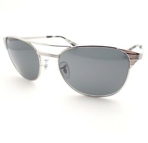 a3bdaa6126 Ray Ban RB Signet 3429 M 003 R5 Silver Blue Grey 55mm Sunglasses New ...