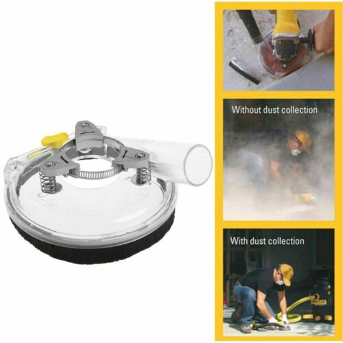"""Dry Grinding Dust Cover for Angle Hand Grinder Clear 4/""""// 5/"""" Dust Shroud Kit New"""