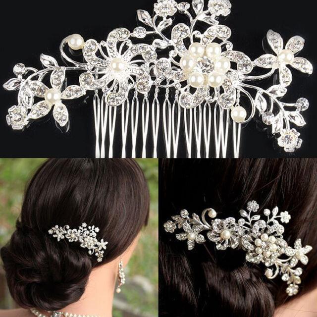 2 pieces Vintage hair comb bridal wedding crystal rhinestone hair accessories
