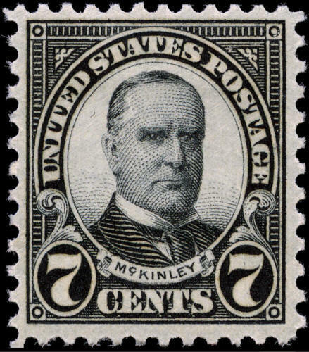 1927 7c William McKinley, Black Scott 639 Mint F/VF NH