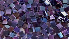 "100 1/2"" Ultra Dark Purple Stained Glass Mosaic Tiles"