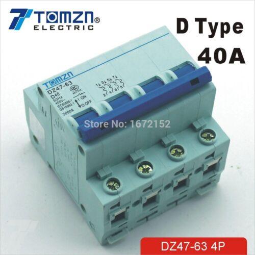 4P 40A D tipo 240V//415V Interruptor Reja de desminado 4 polos